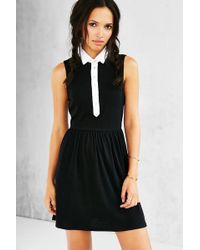 Cooperative - Collared Button-front Frock Dress - Lyst