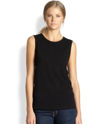 Cardigan | Marcelle Cotton Jersey Muscle Tee | Lyst