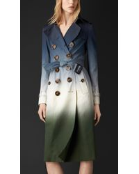 Burberry Dégradé Silk Trench Coat - Lyst
