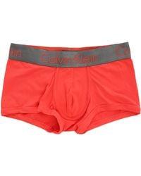 Calvin Klein Coral Zinc Microfibre Boxer Shorts red - Lyst