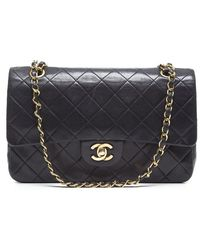 Chanel Preowned Medium Vintage Double Flap Bag - Lyst