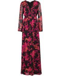 Diane von Furstenberg - Celia Printed Silk Chiffon Maxi Dress - Lyst