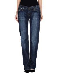 D&G Denim Trousers blue - Lyst
