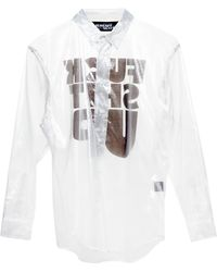 Jeremy Scott Fuck Shit Up Sheer Shirt white - Lyst