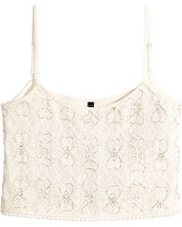 H&M Beaded Lace Top - Lyst