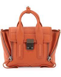 3.1 Phillip Lim Pashli Mini Leather Satchel Bag Persimmon - Lyst