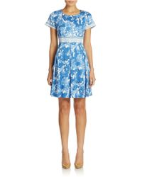 Weekend by Maxmara Floral Fit-And-Flare Dress - Lyst