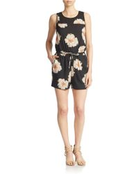 Ivanka Trump - Flower-print Short Jumpsuit - Lyst