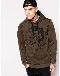 Diesel Hooded Sweatshirt Mowhawk Logo - Lyst