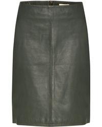 Linea Weekend - Zip Detail Leather Skirt - Lyst