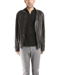 Simon Spurr Glove Leather Bomber Jacket - Lyst