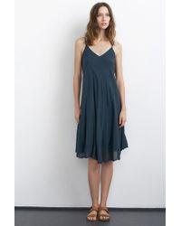 Velvet By Graham & Spencer Odalis Cotton Gauze Cami Dress blue - Lyst