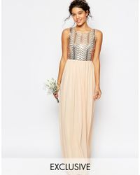TFNC | Wedding Sequin Maxi Dress With Open Back | Lyst