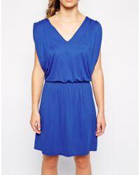 Love Drape Shoulder Jersey Dress - Lyst