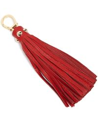 Etienne Aigner | Long Pebbled Tassel Key Fob | Lyst