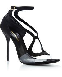 Nicholas Kirkwood Double Strap Satin and Pvc Sandals - Lyst