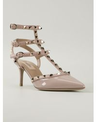 Valentino Pink 'Rockstud' Pumps - Lyst