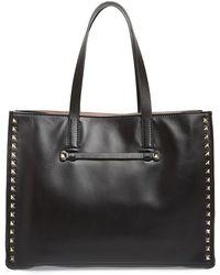 Valentino 'Rockstud - Soft' Leather Tote - Lyst