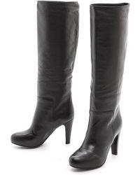 See By Chloé Tall Platform Boots  Black - Lyst