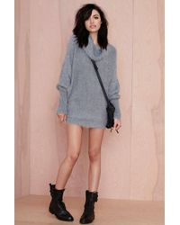 Nasty Gal Alpine Fuzzy Sweater - Lyst