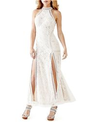 Guess Geo Lace Double-Slit Maxi Dress - Lyst