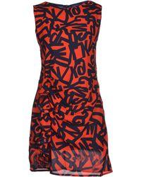 Cutie Red Short Dress - Lyst