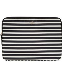 Kate Spade Fairmont Stripe Laptop Sleeve For Macbook And Macbook Pro - Lyst