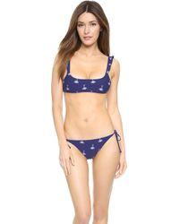 Zoe Karssen Palm Tree Bikini - Blue Print - Lyst