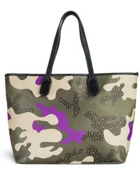 Mischa | 'Jet Set' Camouflage Hexagon Print Tote | Lyst