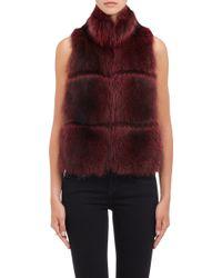 Barneys New York Fur Vest - Lyst