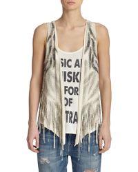 Haute Hippie Embellished Silk Vest - Lyst
