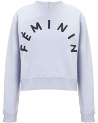 Whistles Purple Feminin Sweatshirt - Lyst