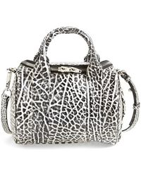 Alexander Wang Rockie Dumbo Leather Satchel - Lyst