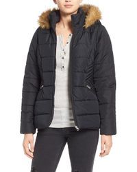 Krush | Hooded Faux-Fur Quilted Coat | Lyst