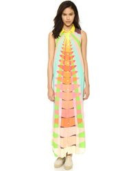 Mara Hoffman Shirt Maxi Dress - Beams Yellow - Lyst