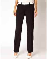 Antipodium - Platform Trousers with Leather Waistband - Lyst