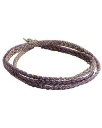 Sogoli - Lavender, Silver And Gold Braided Chain Wrap Bracelet - Lyst