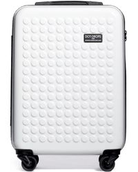 """Dot Drops - X-tra Light 21"""" Carry-on Suitcase - White - Lyst"""