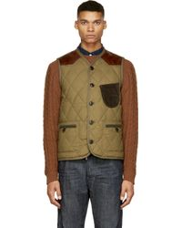Junya Watanabe Khaki Quilted Duvetica Edition Vest - Lyst
