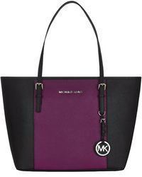MICHAEL Michael Kors Centre-stripe Small Jet Set Tote - Lyst