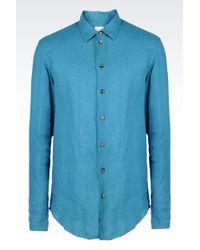 Armani Linen Shirt - Lyst