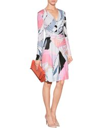 Emilio Pucci Printed Jersey Wrap Dress - Lyst