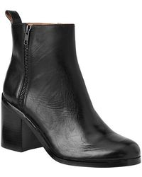 Gap Classic Leather Boots - Lyst
