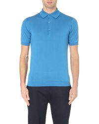 John Smedley Adrian Knitted Polo Jumper - For Men - Lyst