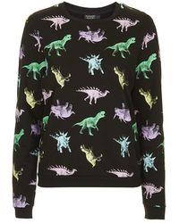 Topshop Dinosaur Print Loungewear Sweater multicolor - Lyst