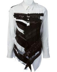 Junya Watanabe Patchwork Shirt - Lyst