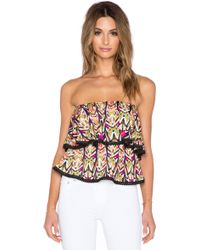 T-bags - Strapless Ruffle Tank - Lyst