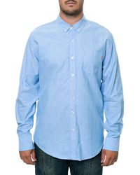 Obey The Quality Dissent Long Sleeve Button Down Shirt - Lyst