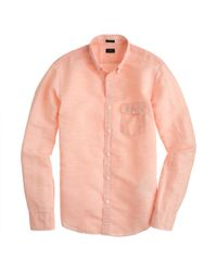 J.Crew Slim Cotton-Linen Shirt - Lyst