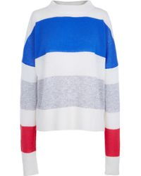 Tibi | Striped Cashmere Oversized Airy Pullover | Lyst